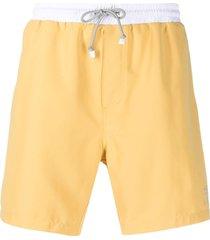 brunello cucinelli two-tone swim shorts - cj057 yellow