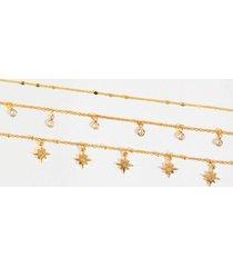ailani starburst layered choker - gold