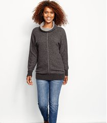 cashmere cowlneck lounge sweater
