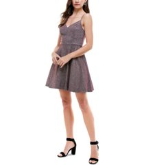 city studios juniors' glitter fit & flare dress