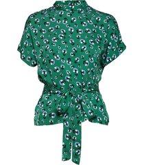 blumea blouse ss aop 8325 blouses short-sleeved groen samsøe & samsøe