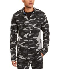 id ideology men's colorblocked camo jacket, created for macy's