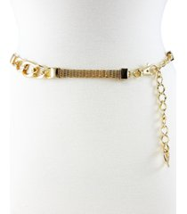 fashion focus metal mesh chain belt with status link stations