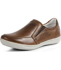 sapatênis conforto calce fácil couro por dentro e por fora pierrô cor whisky