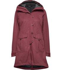 bjerke 3in1 lady coat parka lange jas jas rood bergans