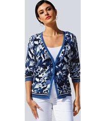 vest alba moda blauw::offwhite
