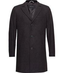malto classic wool wollen jas lange jas zwart matinique