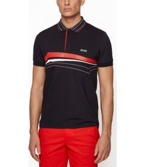 boss men's paule 8 slim-fit polo shirt