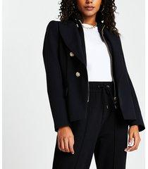 river island womens black hoodie hybrid blazer