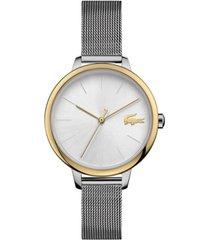 lacoste women's cannes stainless steel mesh bracelet watch 34mm