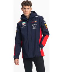 red bull racing team hooded regenjas voor heren, zwart, maat 3xl | puma