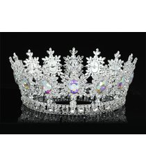 ab stones pageant imperial sparkling tiara full circle round men king crown