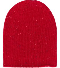 bonpoint ribbed knit beanie - red