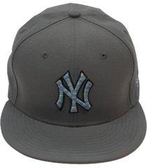 gorra hombre new era ny yankees logo craze snap-gris