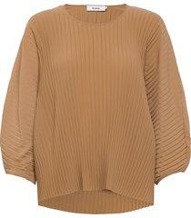ise top blouse lange mouwen beige stylein