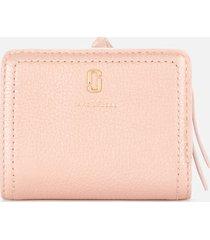 marc jacobs women's mini compact wallet - pearl blush