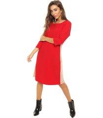 vestido rojo ted bodin gamuza