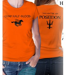 camp half blood , percy jackson, womens t shirt, double sided