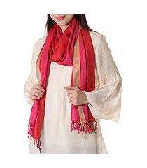 silk shawl, 'sweet luxury' (india)
