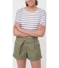 loft herringbone belted paper bag shorts