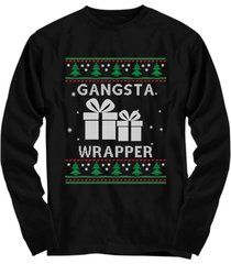 gangsta wrapper novelty ugly christmas sweater gifts - unisex long sleeve tee