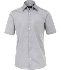 casamoda heren overhemd poplin non iron korte mouw comfort fit grijs