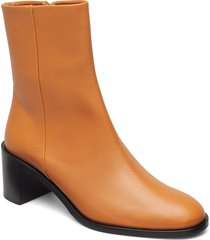 ellera terra vacchetta shoes boots ankle boots ankle boots with heel brun atp atelier