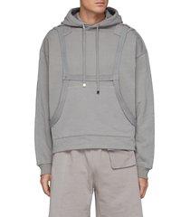 harness detail hoodie