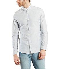 city centre striped oxford shirt