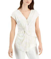 alfani printed twisted top, created for macy's