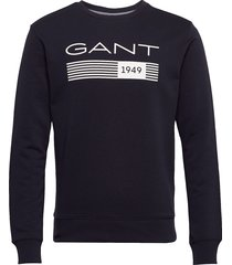 d1. 13 stripes c-neck sweat sweat-shirt trui blauw gant