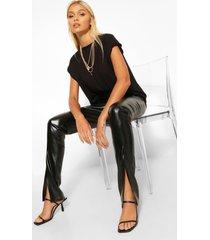 nepleren super stretch leggings met split, zwart