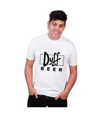 camiseta simpsons duff beer masculina tshirt algodão basica camisa preço baixo