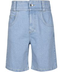 opening ceremony baggy bleach denim shorts