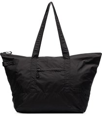 ganni square-shape tote bag - black