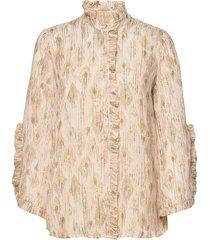 dahlia jaspa shirt blouse lange mouwen crème bruuns bazaar