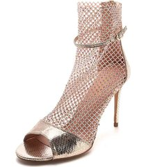 zapatos de tacón con malla adornada en dorado - alexa - frankie