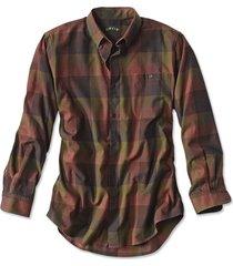 battenkill cotton blend long-sleeved shirt / tall, chestnut multi, x large