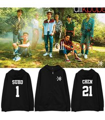 kpop exo zipper hoodie the war hoody pollover sweatershirt sweater kai suho