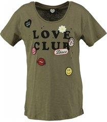 catwalk junkie stevig zacht shirt met badges