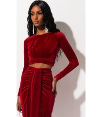 akira hold me close long sleeve velvet crop top