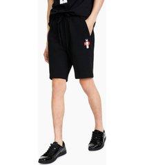 hugo men's dirrel bamboo-logo sweat shorts, created for macy's