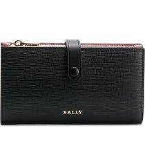 bally lamber embossed wallet - black
