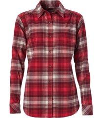 blusa merino lux flannel rojo royal robbins by doite