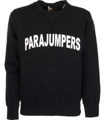 parajumpers caleb black sweatshirt sweater cotton