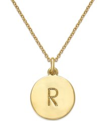 """kate spade new york 12k gold-plated initials pendant necklace, 17"""" + 3"""" extender"""