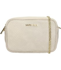 marc ellis zoe clutch in beige leather