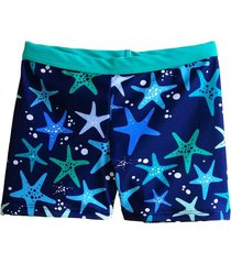 boxer azul brillantina estrella