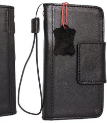 genuine leather case for samsung galaxy note 8 book wallet black magnet cover uk