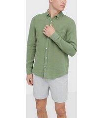 j lindeberg fredrik bd-clean linen skjortor sage